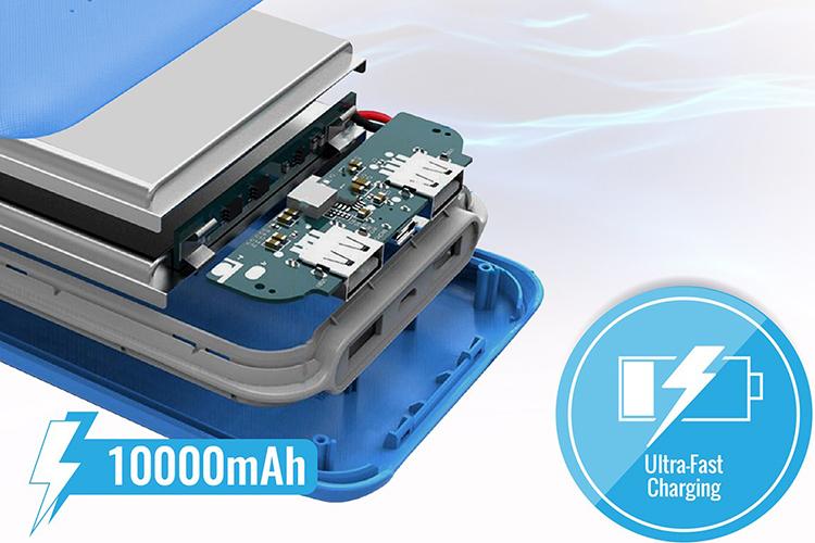 Pin Sạc Dự Phòng Promate Voltag-10 10000mAh Siêu Mỏng - Hàng Chính Hãng