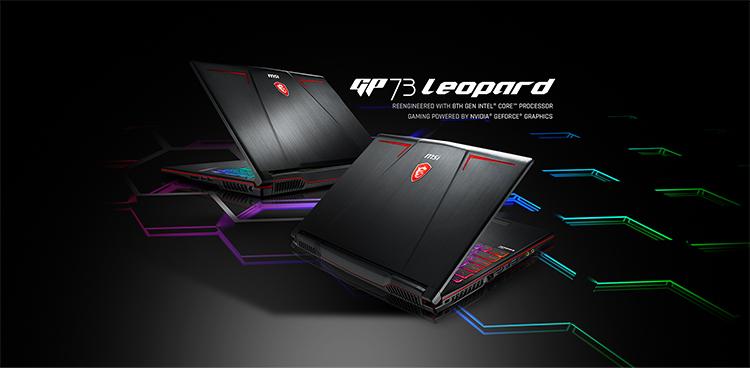 Laptop Gaming MSI Leopard GP73 8RD-229VN Core i7-8750H/ Win10 (17.3 inch) - Black - Hàng Chính Hãng