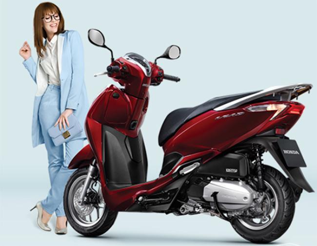 Xe Máy Honda LEAD 2018 Phiên Bản Tiêu Chuẩn - Đỏ Đen - Tặng Nón Bảo Hiểm, Bảo Hiểm Xe Máy, Thảm Xe Máy