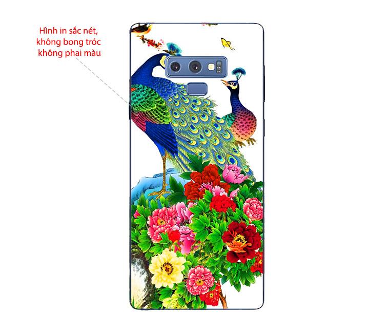 Ốp Lưng Dẻo Cho Điện thoại Samsung Galaxy Note 9 - Chim Công