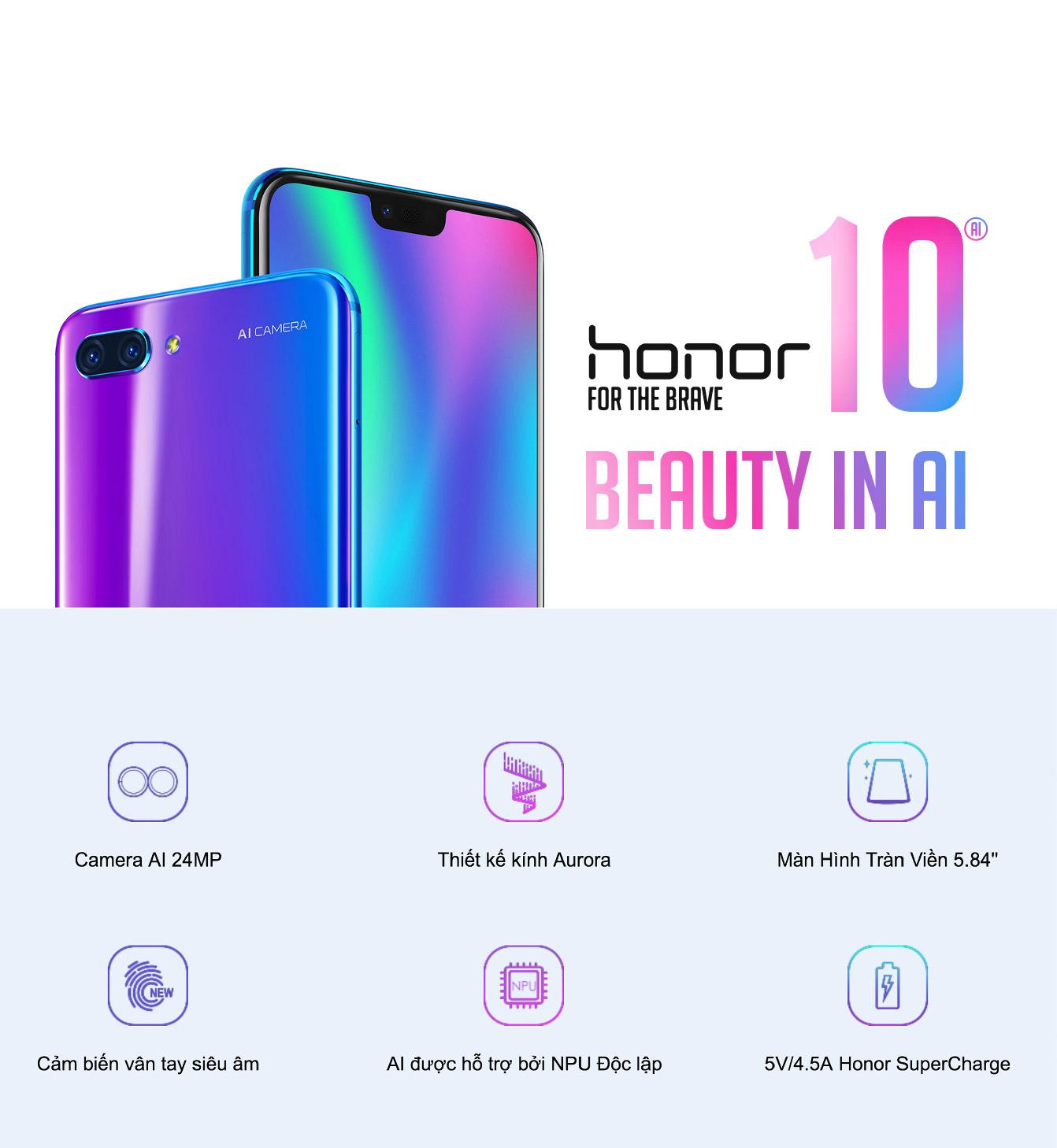 Điện Thoại Honor 10 (4GB/128GB) – Hàng Chính Hãng