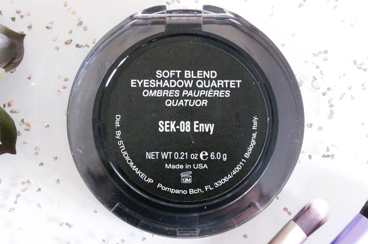 Bảng Phấn Mắt 4 Màu Studiomakeup Eyeshadow Quad SEK (6g) 2