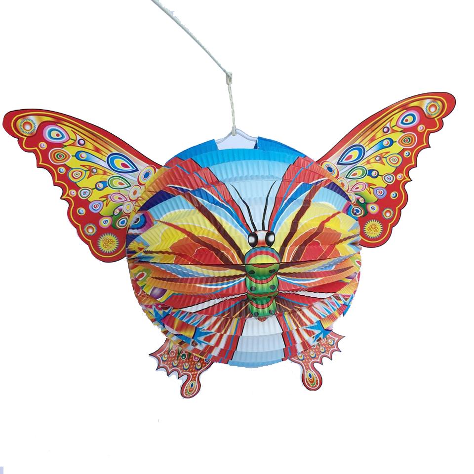 Đèn lồng trung thu bằng giấy cỡ to -  Hình con bướm