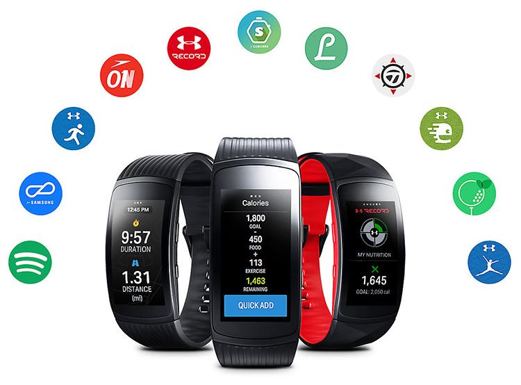 Đồng Hồ Thông Minh Samsung Gear Fit2 Pro - Hàng Chính Hãng - Đen