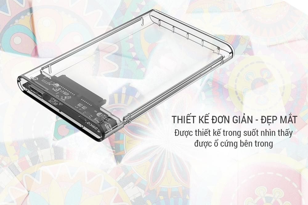 Hộp Đựng Ổ Cứng Di Động HDD Box 2.5 ORICO 2139U3 USB3.0/2.5 Nhựa Trong Suốt - Hàng Chính Hãng  = 115.000 ₫