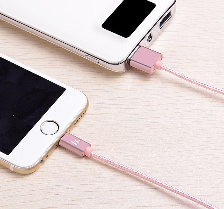 Cáp Sạc Lightning Dây Dù Hoco X2 1m Cho Iphone - Hàng Chính Hãng