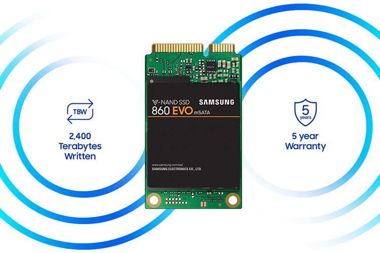 Ổ Cứng SSD Samsung 860EVO 250GB Sata III mSata - Hàng Chính Hãng