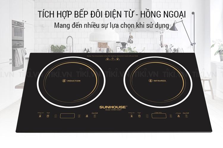 Bếp Đôi Điện Từ - Hồng Ngoại Sunhouse SHB9103MT