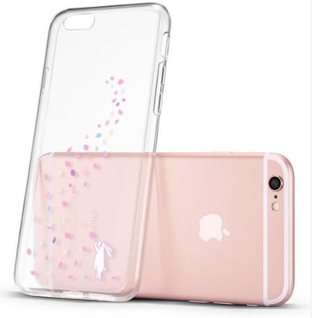 Ốp Lưng Silicone Dẻo Chống Va Đập Mưa Hoa Thỏ (ESR) iPhone6 / 6s phone case / 4.7 inch Apple 6S - Trong Suốt