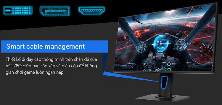 Màn Hình Gaming Asus VG278Q 27inch FullHD 1ms 144Hz FreeSync TN - Hàng Chính Hãng
