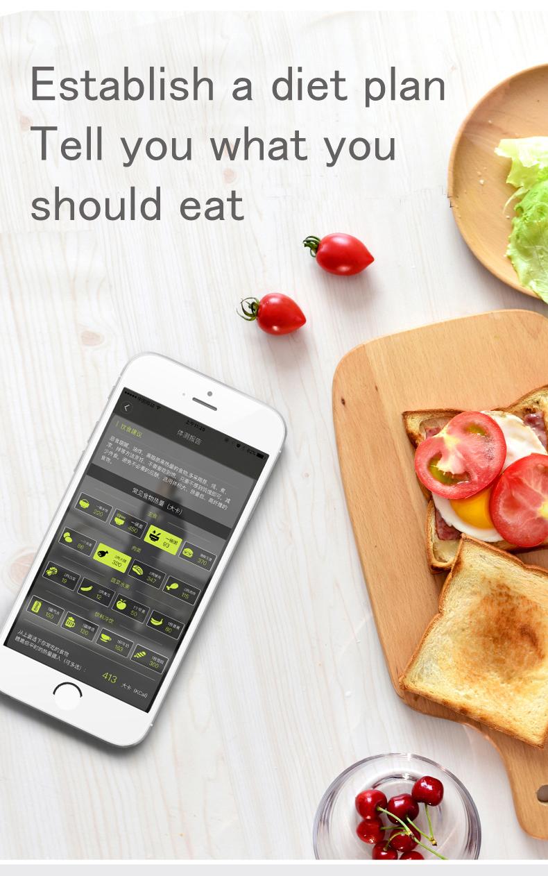 Cân Điện Tử Đo Lượng Mỡ ICOMON i9 Có Đầu Đọc Bluetooth APP Cho iOS Và Android Giúp Phân Tích Lượng Mỡ Trong Cơ Thể - Xanh và Trắng