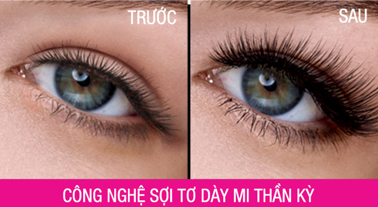 Mascara Maybelline Magnum Làm Dày Mi 10 Lần (9.2ml)  = 165.000 ₫