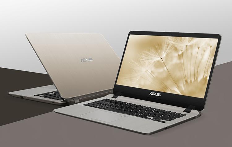 Laptop Asus Vivobook X407UA-BV309T Core i3-7020U/Win10 (14 inch) (Gold) - Hàng Chính Hãng