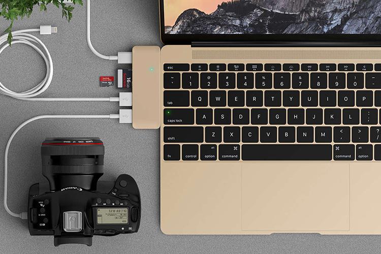 """Cổng Chuyển HyperDrive USB Type-C 5-in-1 Hub Dành Cho Macbook Pro 2016 và Macbook 12"""" - Hàng Chính Hãng"""