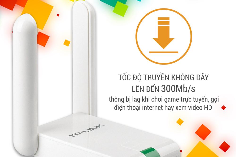 TP-Link  TL-WN822N - USB Wifi (high gain) chuẩn N tốc độ 300Mbps