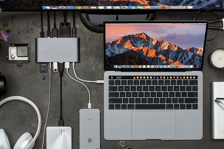 Cổng Chuyển HyperDrive Ultimate USB-C Hub For MacBook, PC, USB-C Devices - Hàng Chính Hãng
