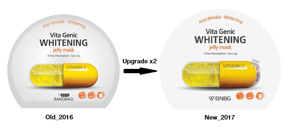 Mặt nạ giấy dưỡng da trắng sáng và làm đều màu da  Banobagi Vita Genic Whitening Jelly Mask (Vitamin C) 30ml