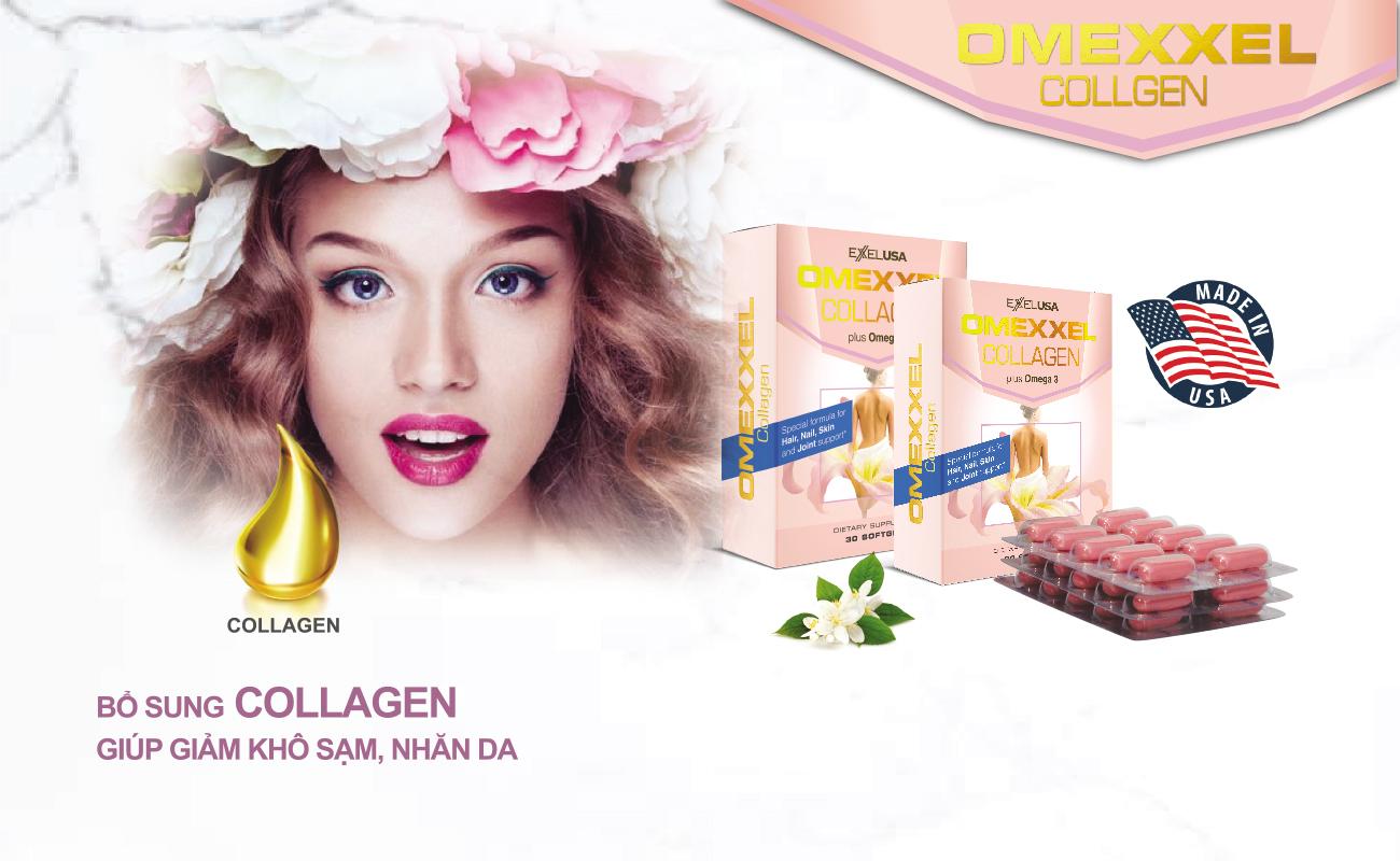 Thực Phẩm Chức Năng Viên Uống Collagen Omexxel 15000mg (30 Viên)