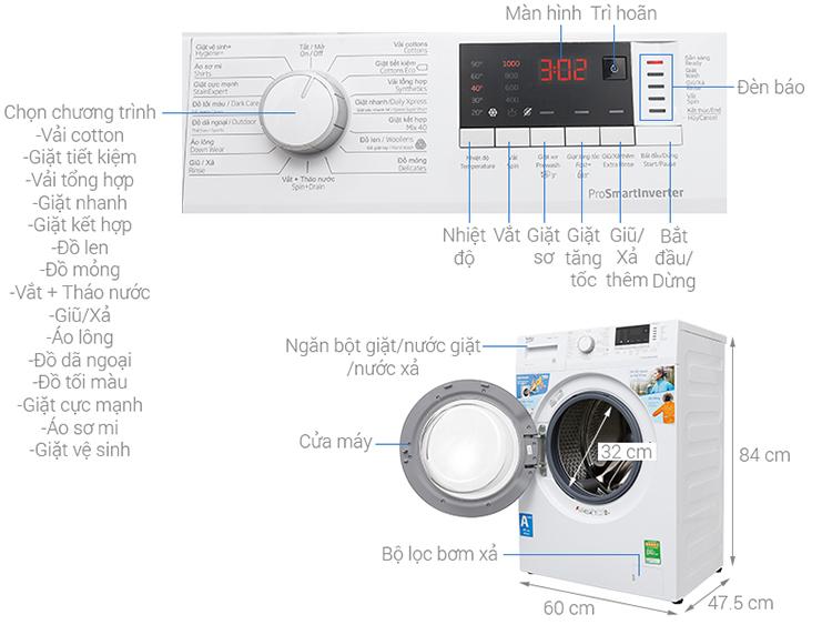 Máy Giặt Cửa Trước Inverter Beko WTE 7512 XS0 (7kg)