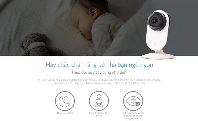 Camera Giám Sát Yi Home 720p Hd Quốc Tế