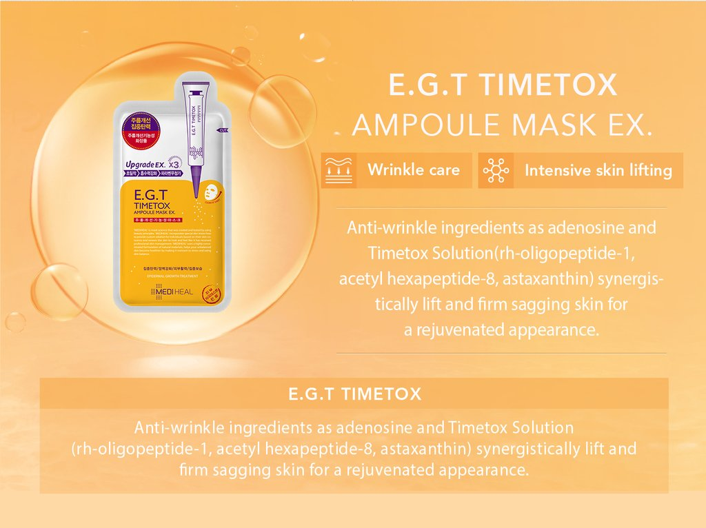 Mặt Nạ Chứa Chất E.G.T Giúp Tái Tạo Da Mediheal E.G.T Timetox Ampoule Mask Ex 25ml
