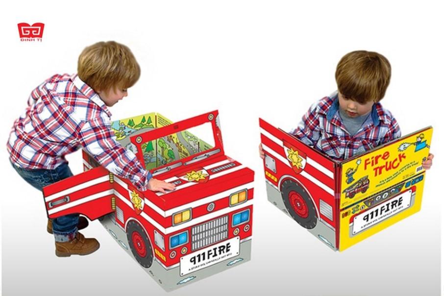 Convertible - Sách Biến Hóa Mô Hình - Fire Engine - Xe Cứu Hỏa
