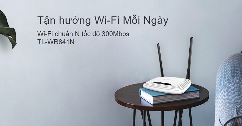 TP-Link TL-WR841N - Router Wifi Chuẩn N Tốc Độ 300Mbps - Hàng Chính Hãng = 280.000đ