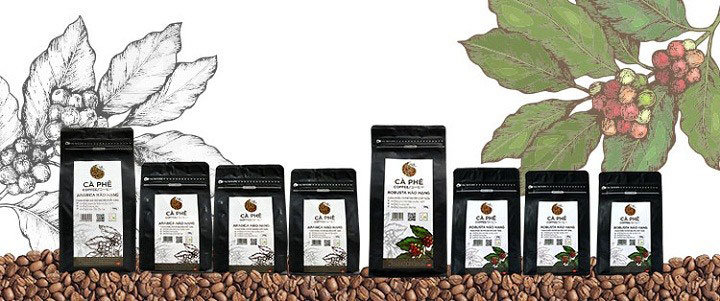 Cà Phê Hạt Nguyên Chất 100% Arabica Hảo Hạng Light Coffee AHH-100 (100g)