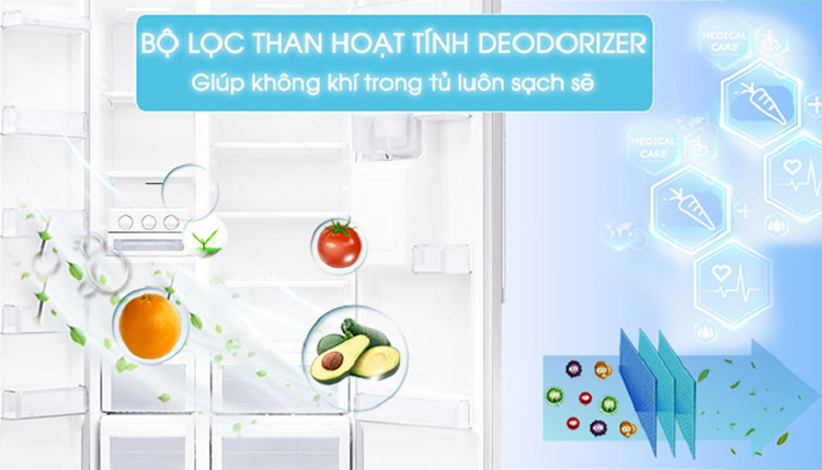 Tủ Lạnh Side By Side Inverter LG GR-B247GP (626L)