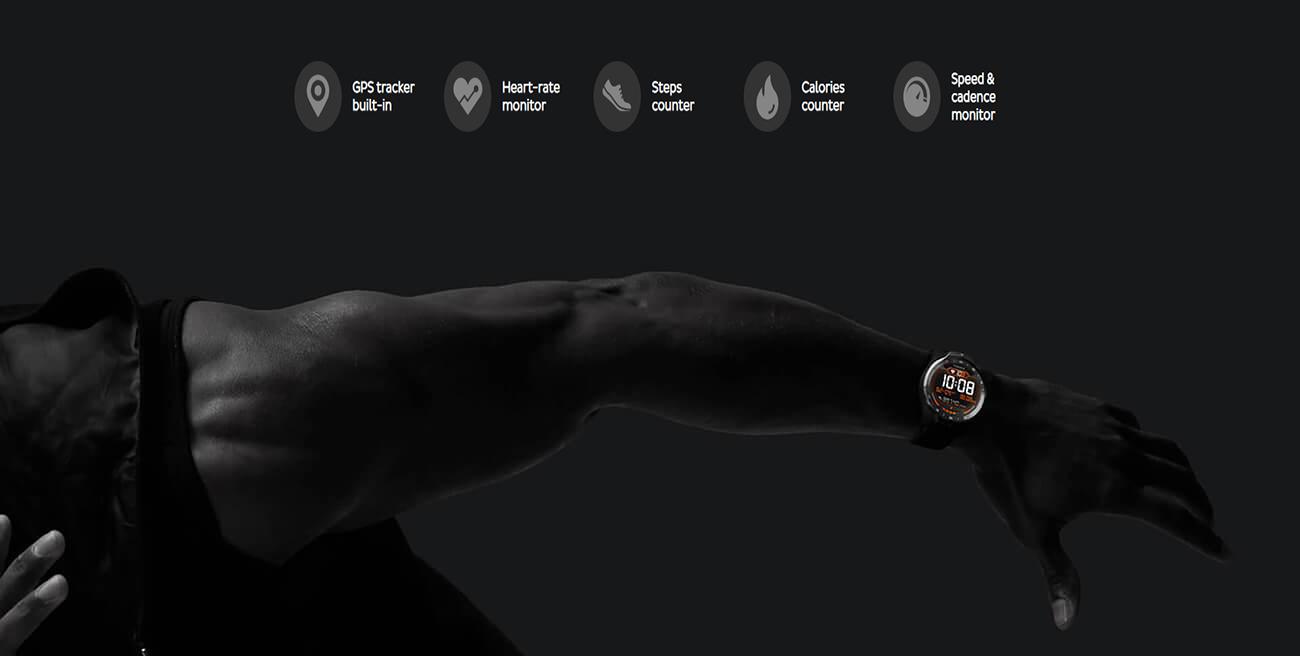Đồng Hồ Thông Minh Ticwatch Pro (Viền Đen) Bản Quốc tế - Hàng Chính Hãng