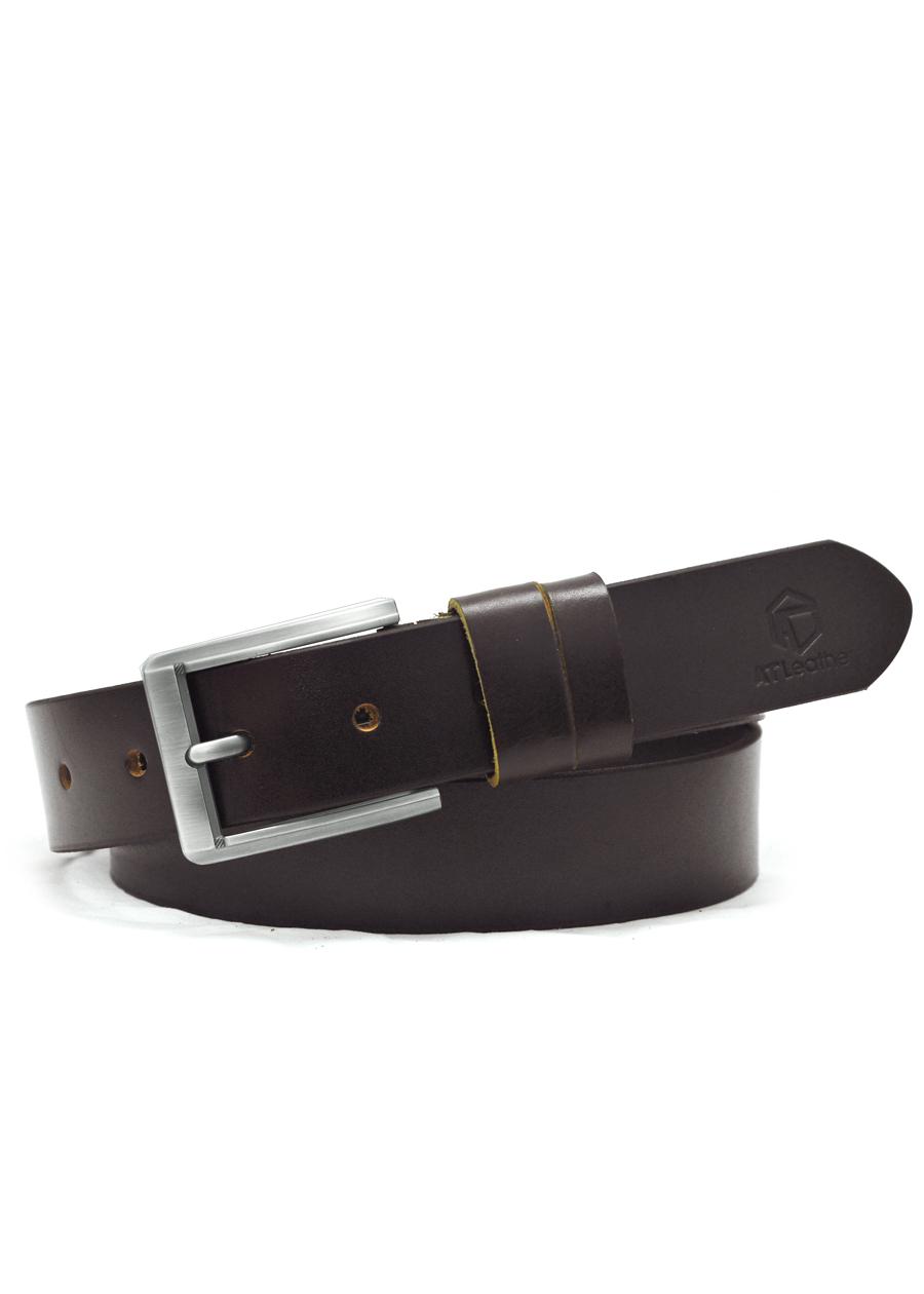 Thắt lưng da bò nam AT Leather Premium PK2 - Nâu