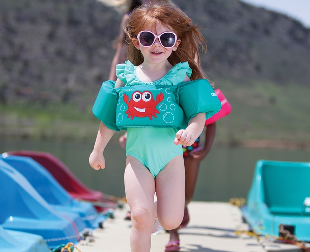 Phao bơi trẻ em SHARK (Bé từ 2 - 8 tuổi), phao bơi đeo tay cho bé chất liệu SIÊU nhẹ tiêu chuẩn EU cao cấp - POKI