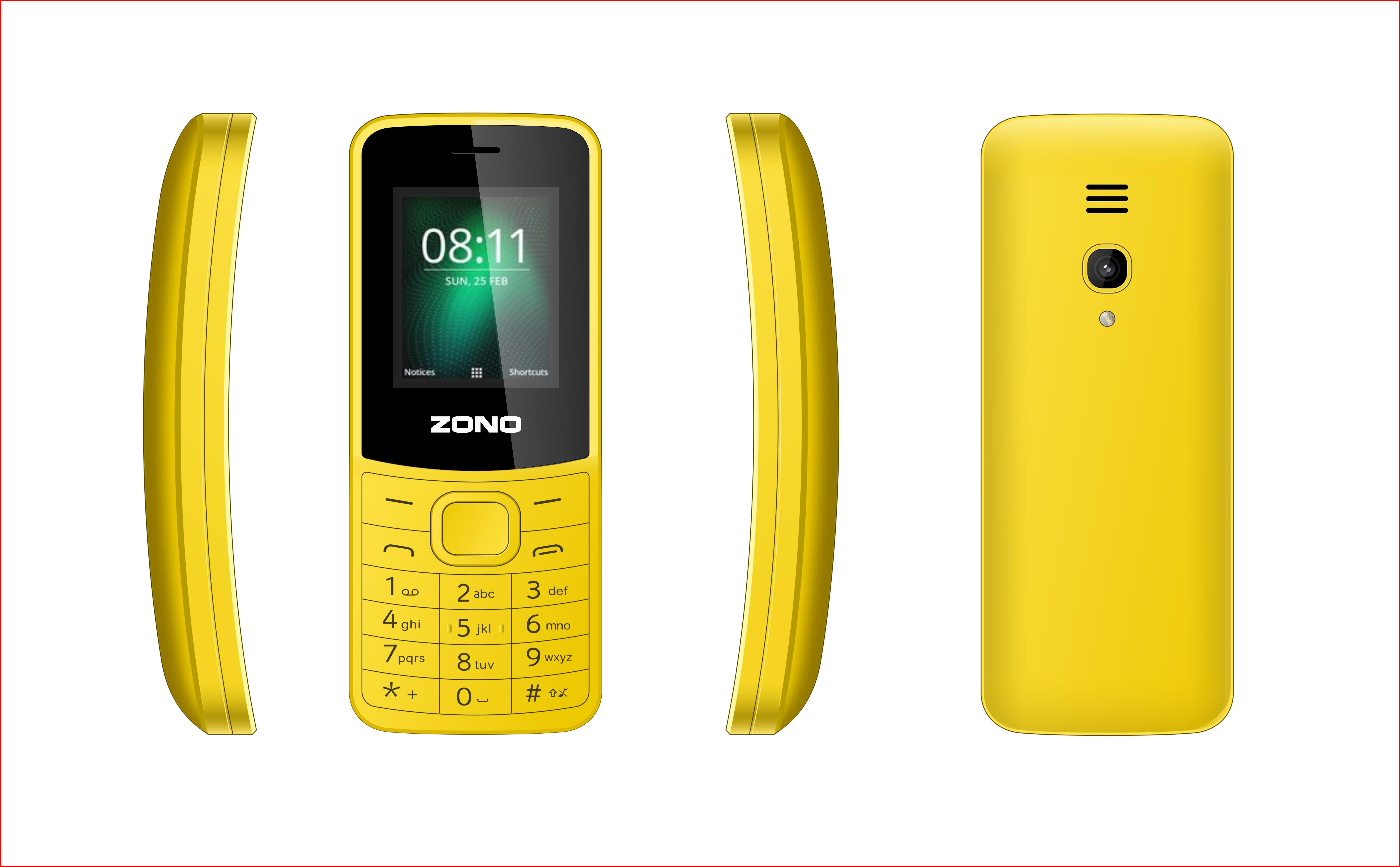 Điện Thoại Di Động GSM ZONO N8110 1.8inch – Hàng Nhập Khẩu