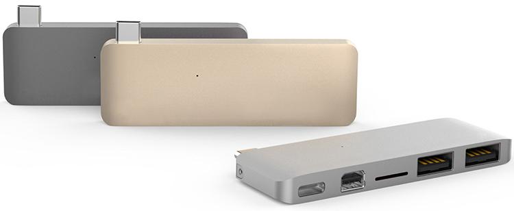 Cổng Chuyển HyperDrive USB-C Hub With Mini DisplayPort For MacBook Pro 2016 / 2017, MacBook 12' - Hàng Chính Hãng