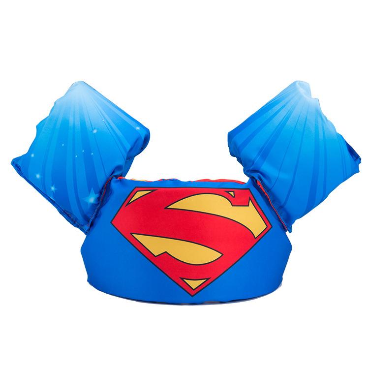 Phao bơi trẻ em SUPERMAN (Bé từ 2 - 8 tuổi), phao bơi đeo tay cho bé chất liệu SIÊU nhẹ tiêu chuẩn EU cao cấp - POKI
