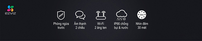 Tiêu chuẩn IP66 để sử dụng dưới điều kiện ngoài trời