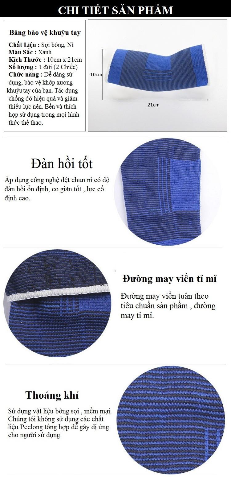 Băng Đai Bảo Vệ Khuỷu tay Tay Cho Nữ (Xanh)