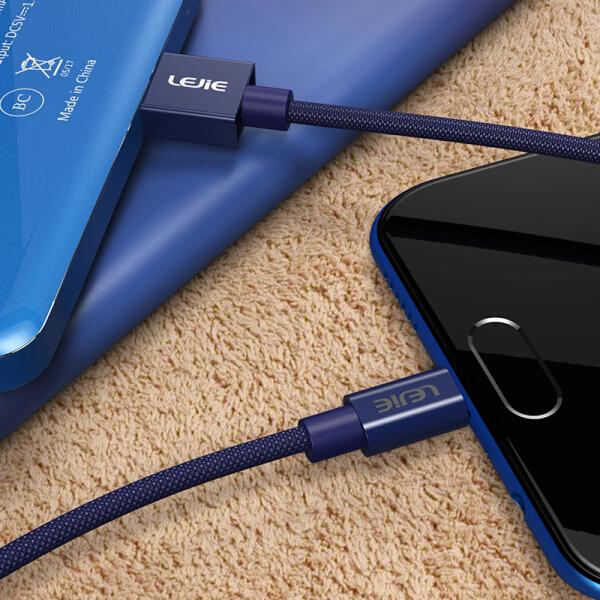 Cáp Sạc Điện Thoại Và Truyền Dữ Liệu Ngắn Micro USB Android Hỗ Trợ Huawei / Glory / Millet / Vivo LUMC-1050C LEGO LEJIE Dài 0,5m - Xanh Dương