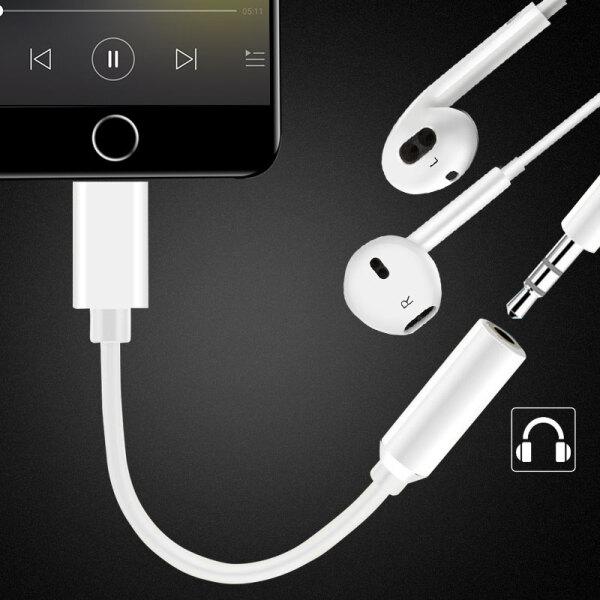 Bộ Chuyển Hợp Tai Nghe Với Cáp Âm Thanh 3.5mm Dành Cho iPhone 8/7Plus Steiger - Trắng
