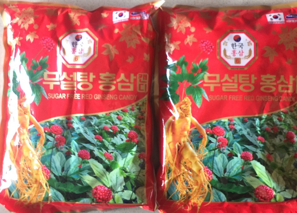 Kẹo hồng sâm không đường Hàn Quốc 2 gói 500g-PP Sâm Yến Thái An