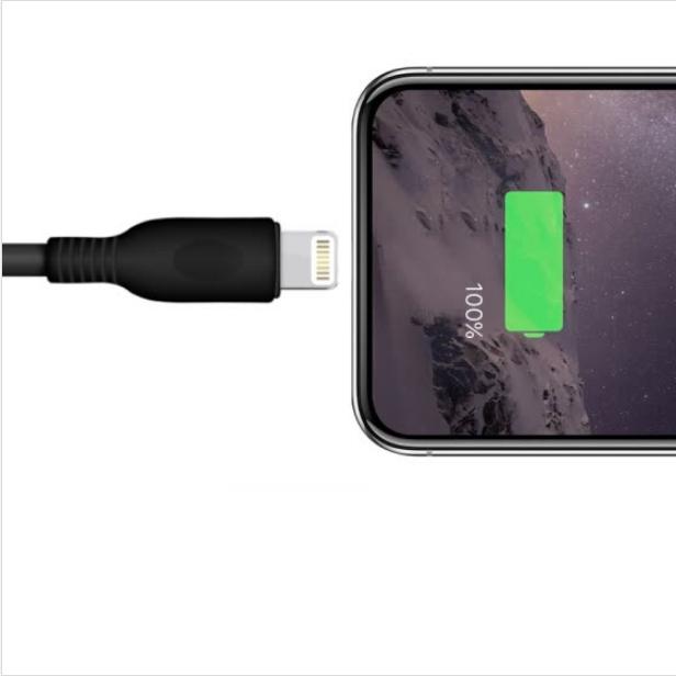 Dây Sạc Dành Cho 6/6splus/iPhone7/8/10/X Snowkids - Đen - 1.8m