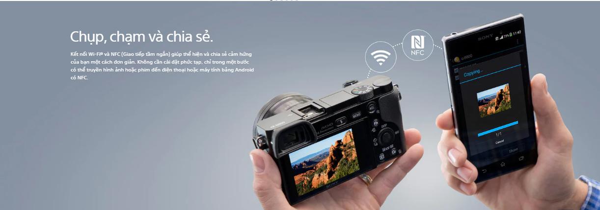 Máy ảnh Sony ILCE-6000 APS-C - Đen (24.3 triệu điểm ảnh a6000 / α6000)