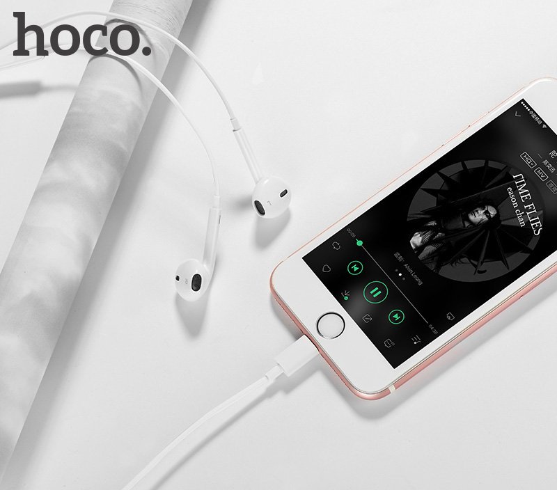 Tai nghe nhét tai Lingtning cho IPhone Hoco L7 - Hàng Chính Hãng