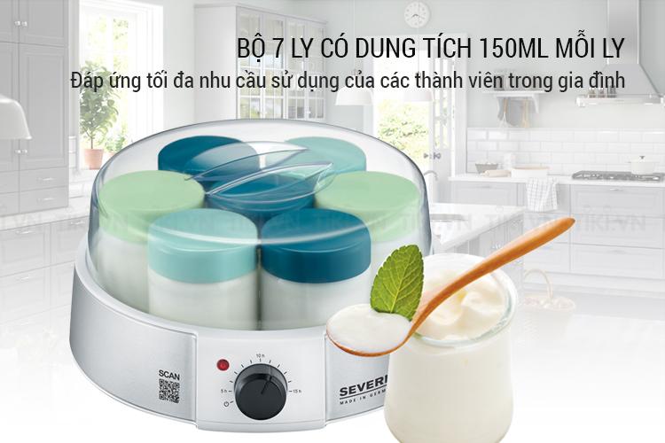 Máy Làm Sữa Chua Severin JG 3525 - Trắng Xanh