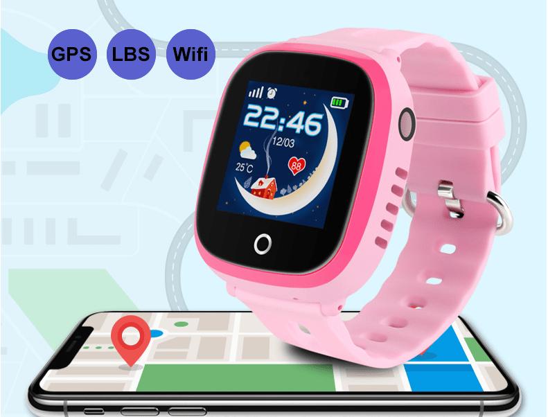 Đồng Hồ Định Vị GPS Trẻ Em Wonlex GW400X Chuẩn Chống Nước IP67 - Hàng Chính Hãng
