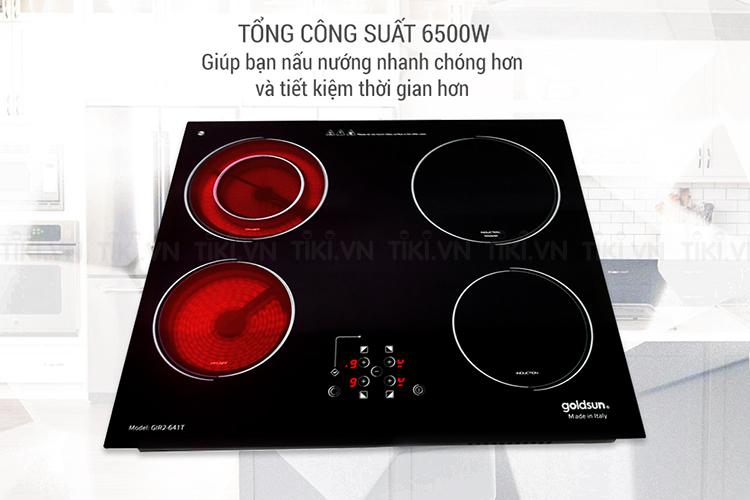 Bếp Điện Từ - Hồng Ngoại Kết Hợp Goldsun GIR2-641T