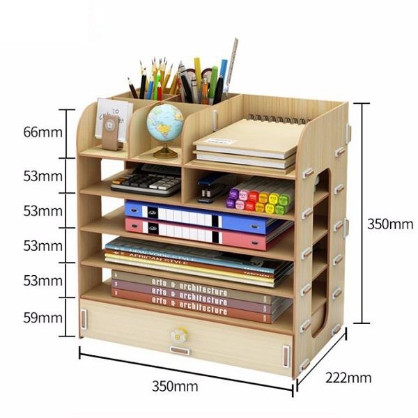 Tủ sách mini để bàn B05 ( Giao Màu Ngẫu Nhên )