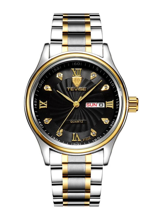 Đồng hồ nam TEVISE dây thép kính tráng sapphire cao cấp JS-8122Q