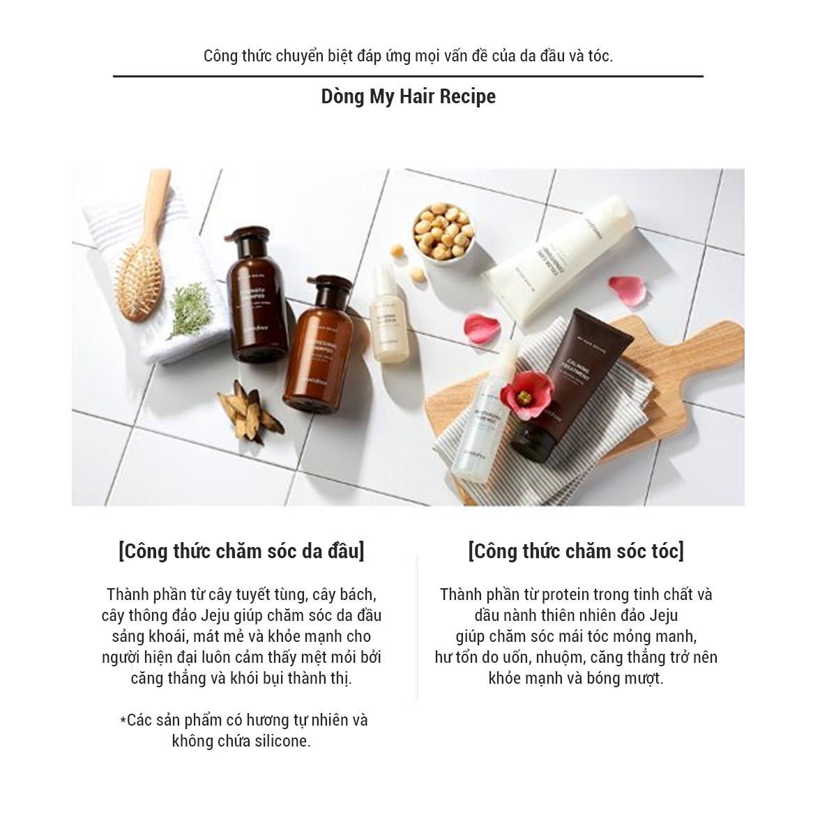 Xịt Dưỡng Dẩm Dành Cho Tóc Khô Innisfree My Hair Recipe Moisturizing Hair Mist For Dry Hair (150ml)