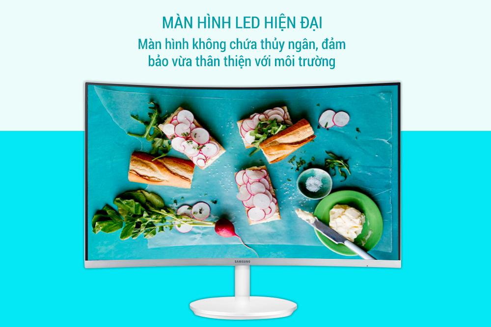 Màn Hình Gaming Cong Samsung LC27F581FDEXXV 27inch FullHD 4ms 60Hz FreeSync VA - Hàng Chính Hãng